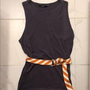 J. Crew Orange/Beige Silk Adjustable Belt S/M